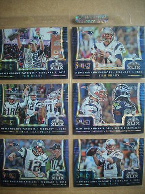 Tom Brady 2014 Select Panini Mojo Prizm Super Bowl XLIX  Pats # 46