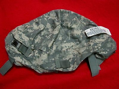 Issue  Us Military Acu Small Medium Ach Helmet Cover W/ Comm Flap + Ir Tabs New