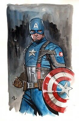 Captain America First Avenger Commission - Signed Painted Art by Adi Granov