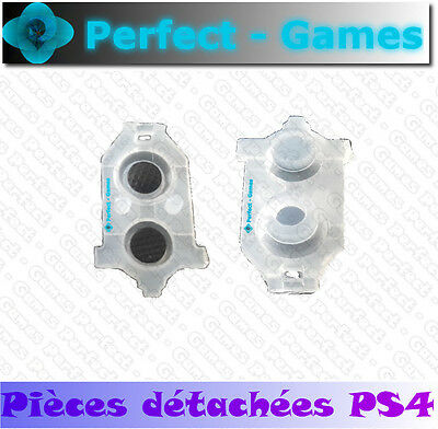 2 contact boutons R1 L1 R2 L2 rubber conductive new manette controller PS4 2016