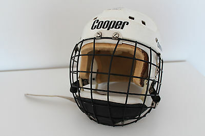 Vintage COOPER SK2500S Hockey Helmet with GOALIE BUBBLE CAGE  ** RARE / L@@K