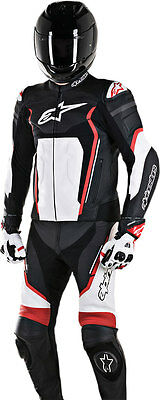 Alpinestars MOTEGI V2 2-PC Leather Road/Track Suit (Black/Wht/Red) Choose Size