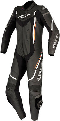 Alpinestars Womens Stella MOTEGI V2 1-PC Leather Road/Track Suit (Black/Wht/Red)