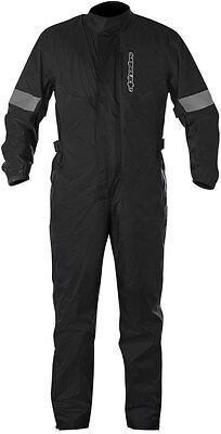 Alpinestars HURRICANE 1-Piece Waterproof Motorcycle Rain Suit (Black) M (Medium)