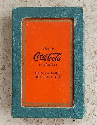 #7 - 1930s Coca-Cola Deck of Playing Cards - Orange with Gold Frilly Border!!