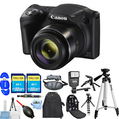 Canon PowerShot SX420 IS 20MP Digital Camera (Black)!! MEGA BUNDLE BRAND NEW!