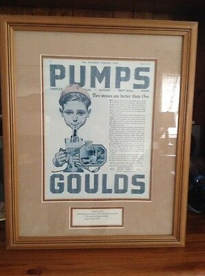 Framed Norman Rockwell Limited Edition Numbered Print - Goulds Pumps (2)