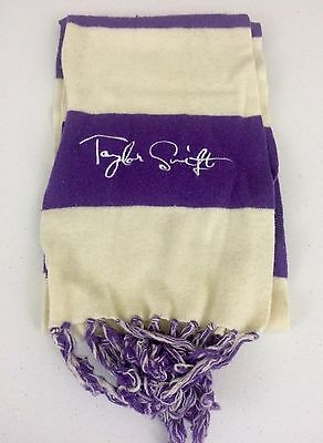 Taylor Swift Speak Now Purple & Ivory Winter Scarf EUC