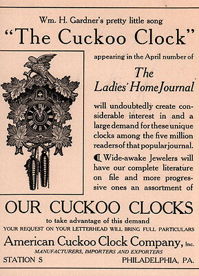 Ad Lot Of Of 3 Early 1900 's Ads Stuyvesant Clock Black Forest Bealmear Cuckoo