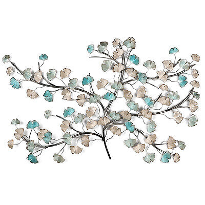 Tree Of Life Metal Wall Art 118cm Turquoise Gold BIG Metal Sculpture Garden