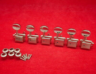 6 In-Line Vintage Classic Machine Head Kluson Style Tuners For Fender Strat Tele