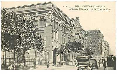 (Ph) New Cpa 93 Le Pre-Saint-Gervais *** Usine Gladiator Et Grande Rue ***