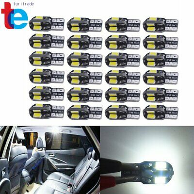 Canbus T10 194 168 W5W 5730 8 LED SMD White Car Side Wedge Light Bulb Lamp 20PCS