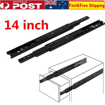4 Pair Ball Bearing Soft-Close Drawer Slides Full Extension Runners Smooth Glide
