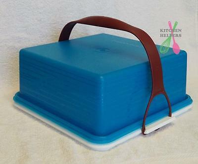 Tupperware Square Cake Keeper Taker - Blue - Brand New