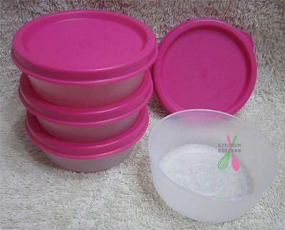 Tupperware Snack Cup Mini Pink Set of 4- 70ml - New- Great for lunch boxes