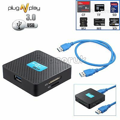 Usb 3.0 Fast All In 1 Multi Memory Card Reader Sd Sdhc Mini Micro M2 Mmc Xd Cf