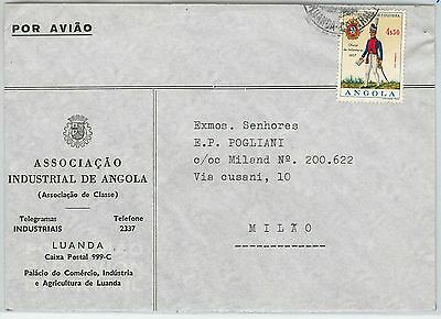 62364  -  ANGOLA - POSTAL HISTORY:   COVER to ITALY 1950'S