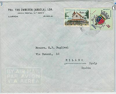 62365  -  ANGOLA - POSTAL HISTORY:   COVER to ITALY 1950'S