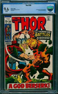 Thor # 166  2nd full appearance of Him (Warlock) !  CBCS 9.6 scarce book !