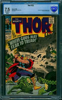 Thor # 132  1st appearance Ego, the Living Planet  !  CBCS 7.5 scarce book !