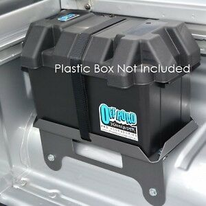 Dual Battery Tray ONLY For Nissan Navara D40 STX Dual Cab (OPTION 3)