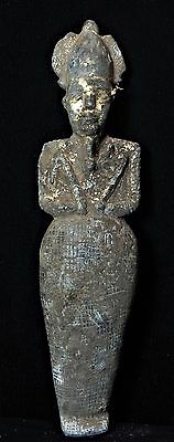 Zurqieh - Ancient Egypt, Beautiful Gilded Schest Stone Osiris. 600 - 65 B.c
