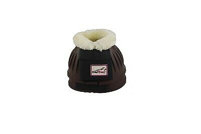 Over-Trot Brown rubber bell boots with fleece - Small size