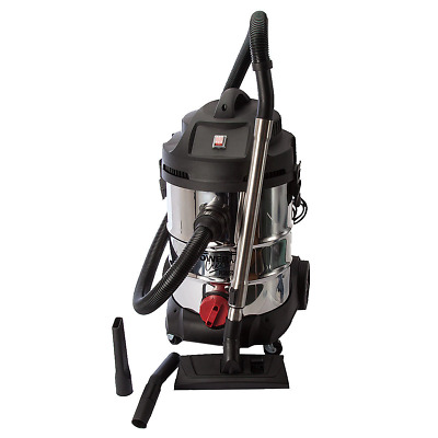 Sealey PC300SD Vacuum Cleaner Industrial Wet and Dry 30ltr 1400w/240V Stainle...