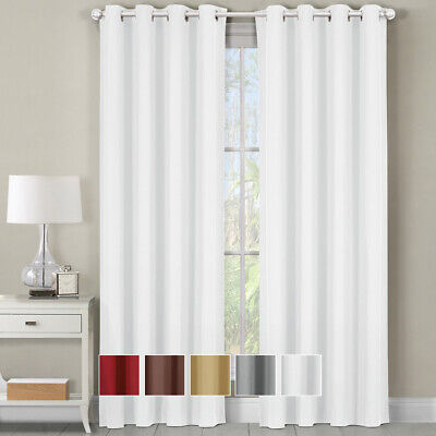 Luxor Cotton Room Darkening Panel Single Grommet Top Heavyweight Solid Curtains