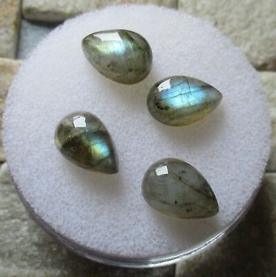 LABRADORITE NATURAL MINED x 4 TOTAL 13Ct  MF8418