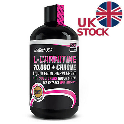 Biotech USA l-carnitine 70.000 + Chrome Liquid Fat Burner Slimming Weight Loss