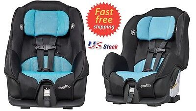 Convertible 3 in 1 Car Seat Gentry Baby Child Toddler Infant Car Seat Evenflo