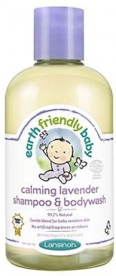 Earth Friendly Baby Calming Lavender Shampoo Bodywash Natural 250ml BRAND NEW