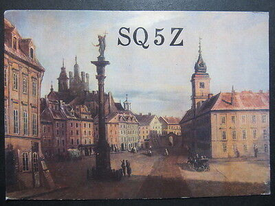 4291 Amateur Radio QSL Card The Royal Castle in Warsaw