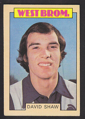 A&BC - Footballers (Blue Back 132-263) 1973 - # 201 Shaw - West Bromwich  Albion
