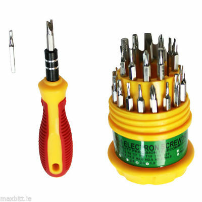 31 in 1 Handy Portable Precision Torx Hex Star Repair Screwdriver Tool Kit Set