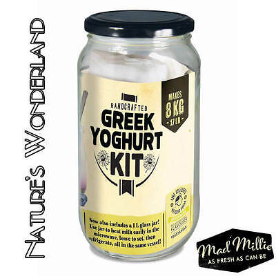 GREEK YOGHURT KIT - Mad Millie - Homemade Probiotic Culture & includes RECIPES
