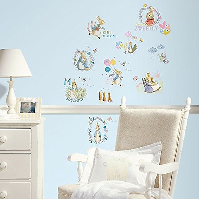 RoomMates Peter Rabbit and Friends Wall Sticker, Multi-Colour