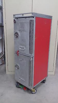 Aircraft Galley Cart Airplane Food Cart Service Trolley Bar & Drink Carts RED