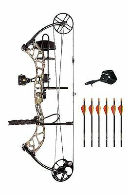 New 2016 Bear Archery Wild RTH 70# RH Bow Package Xtra Camo w/ Arrows & Release