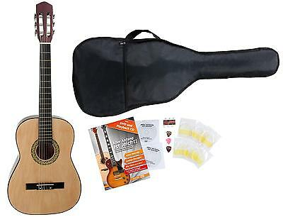 Classic Cantabile Classical Acoustic  Guitar 4/4 Size Starter Set Package