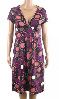 Bn Boden Ladies Purple Pink Jersey Tea Dress Tunic Shift Size 8 10 Only £15.99!!