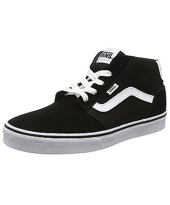 5a9bef1bf1b VANS Chapman Mid Stripe Canvas Fashion Skater Shoes Casual Trainers Black  White