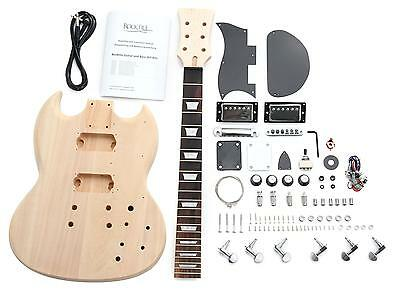 Electric Guitar Diy Assembly Kit Do It Yourself Home Made Built Double Cut Set
