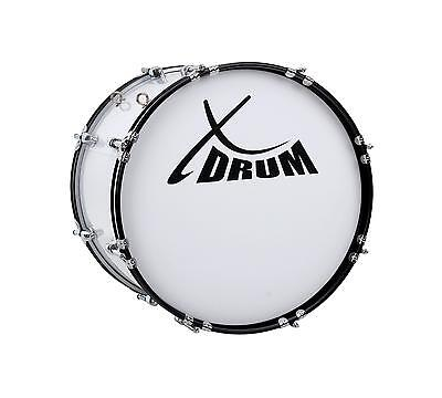"""MARCHING BASS DRUM KETTLEDRUM PERCUSSION SET 18""""x12"""" MALLETS STRAPS TUNING KEY"""