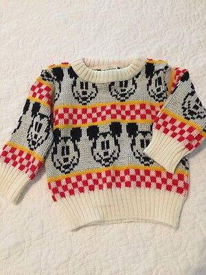 Vintage Mickey Mouse Sweater Disney