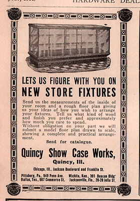 1914 Ad   Quincy Show Case Works Store Fixtures