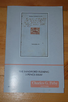 Weeda Firby Auctions: The Sandford Fleming 3 Pence Essay, 1996 catalogue with PR