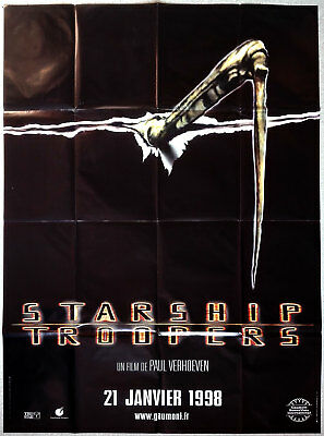 1998 STARSHIP TROOPERS Paul Verhoeven SCi-Fi ADVANCE 47x63 french movie poster